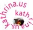 logo for www.kathrina.us contains twice the same  text written in the ellipse shape; copyright(c)20013